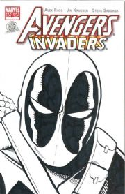 Avengers Invaders #1 Dynamic Forces Authentix Variant Signed Ken Haeser Remarked Deadpool Captain America Sketch comic